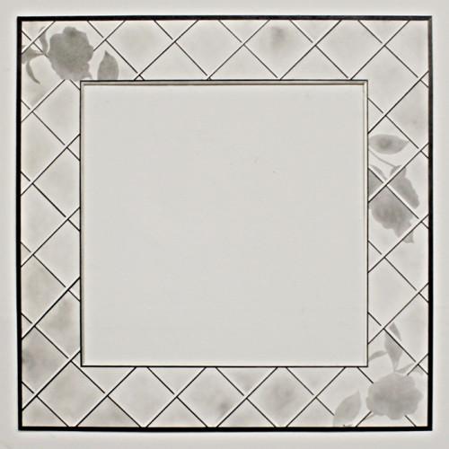 Lattice Square, 24 x 24 in, 2013, graphite on paper