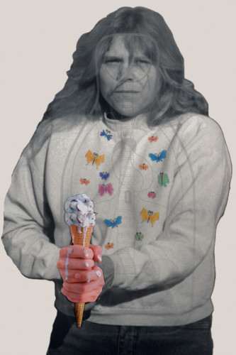 Ice Cream Lady, inkjet print on paper, 36x24