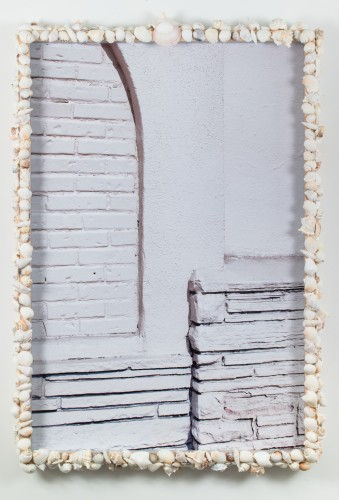 Dingbat (1), 2013  Inkjet print mounted on aluminum; artist frame with sea shells and wood  45 x 31 1/2 inches Edition of 3