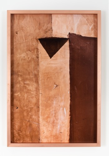 Dingbat (7), 2014 Inkjet print mounted on aluminum, artist's frame with sanded copper 43 x 29 1/2 inches