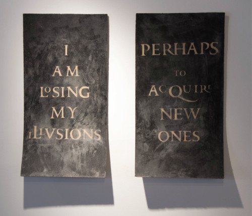 'I Am Losing My Illusions' Tableture by Megan O'Connell Handcast and Carved Paper & Italian Beeswax Photo by Cole Caswell /Gallery 37A