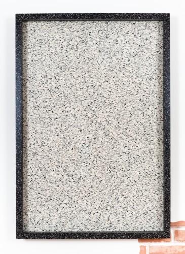 Wingding (3) (Inversion) (Litho/Graffito), 2014 Farbo Marmoleum linoleum, artist's frame with Farbo Marmoleum linoleum 43 x 29 1/2 inches Unique