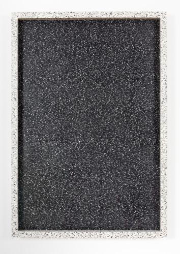 Wingding (4) (Inversion) (Graffito/Litho), 2014  Farbo Marmoleum linoleum, artist's frame with Farbo Marmoleum linoleum 43 x 29 1/2 inches Unique
