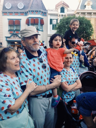 My family in the Bill Murray Dot Tee at Disney World