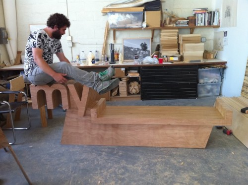 Myspace Logo Bench
